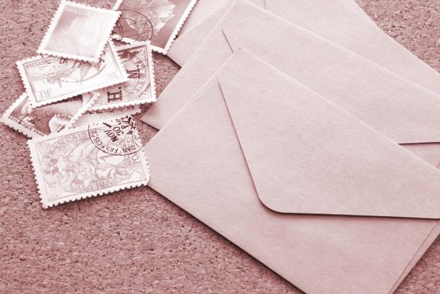封書に切手を貼る場所は?