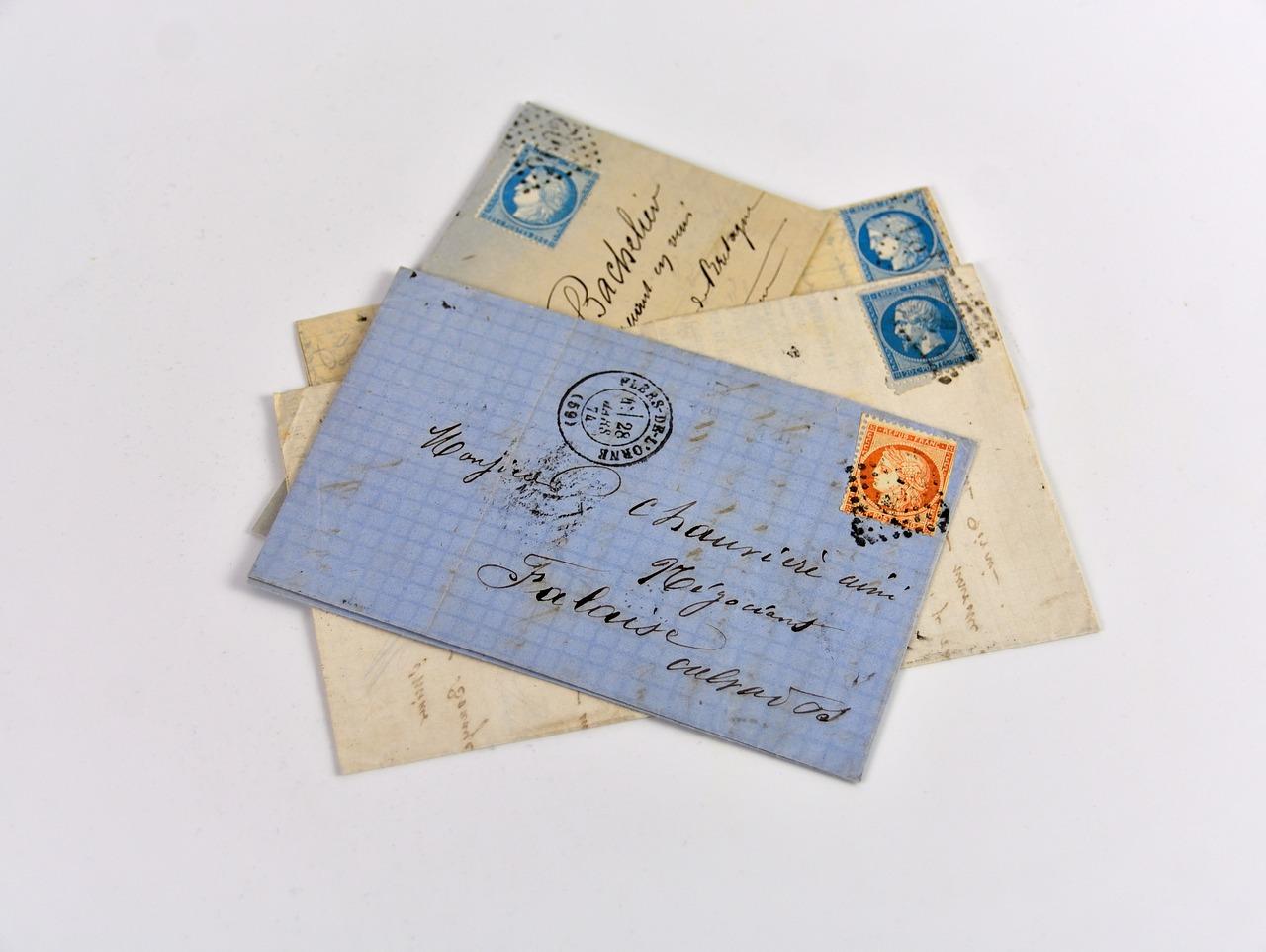 横向きで封筒を出す際の切手の向き
