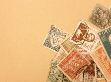 A4三つ折り封筒の切手